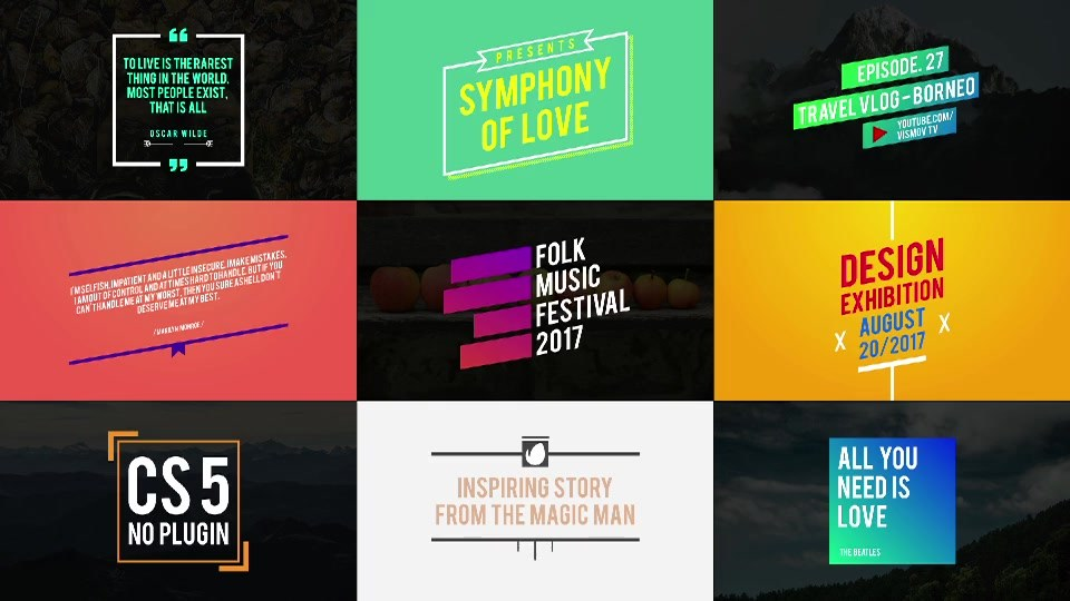 Titles Pack - Download Videohive 19642640