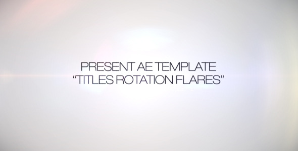 Titles Rotation Flare - Download Videohive 266634