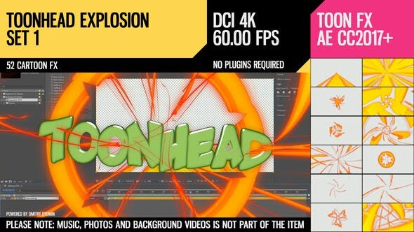 Toonhead (Explosion FX Set 1) - Download 26141570 Videohive