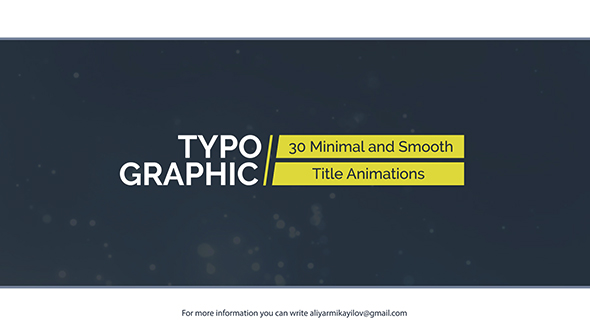 Typographic 30 Title Animations - Download Videohive 20975634