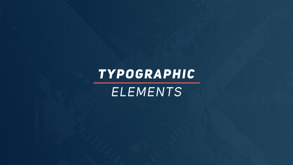 Typographic Elements - Download Videohive 18371262