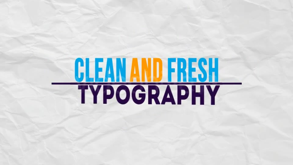 Typographic Presentation - Download Videohive 2380098