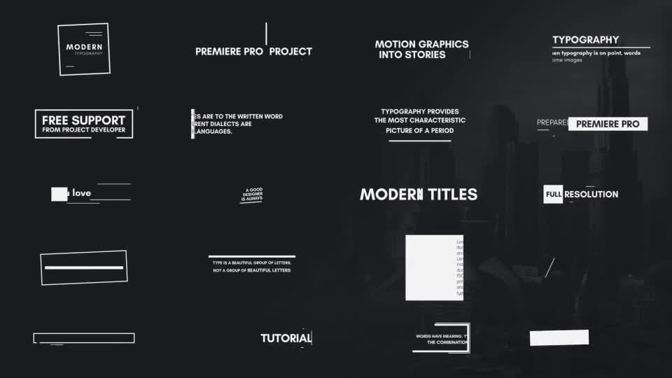 Typography Essential Graphics | MOGRT Videohive 21877296 Premiere Pro Image 1