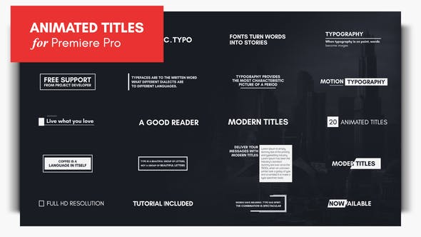 Typography Essential Graphics | MOGRT - Download Videohive 21877296