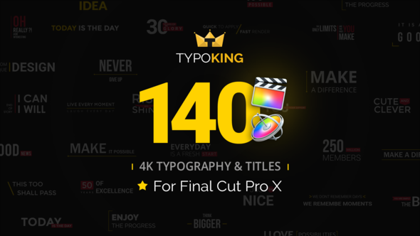 TypoKing Animated Titles for Final Cut Pro X - Download Videohive 21725557