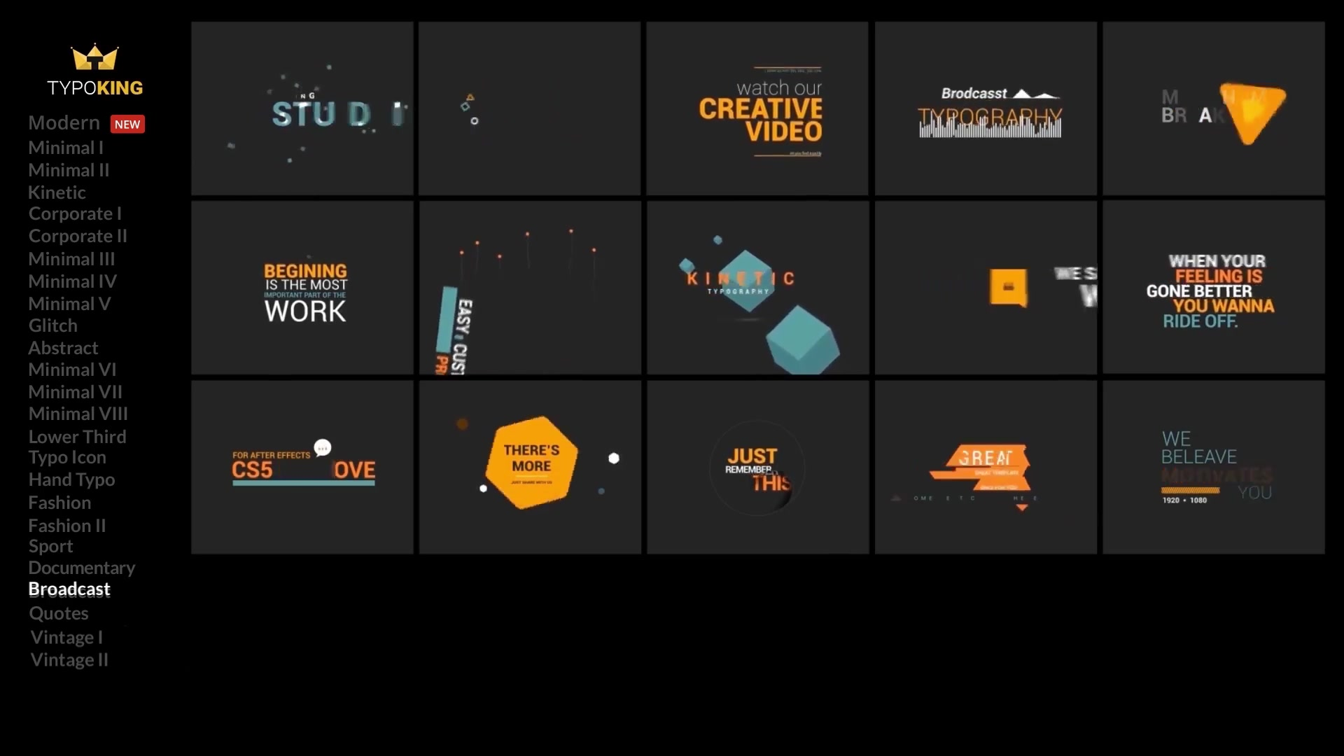 typoking animated titles kinetic typography text for premiere