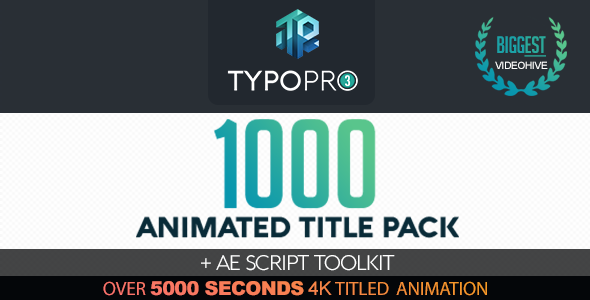 Typopro | Typography Pack Title Animation Kinetic Minimal Vintage - Download Videohive 20448499