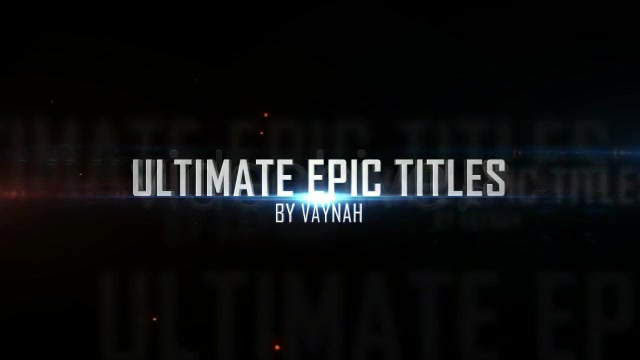 Ultimate Epic Titles + 10 Cinematic Presets - Download Videohive 515457