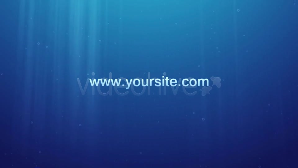 Underwater Logo Reveal and Dispersion - Download Videohive 1990857