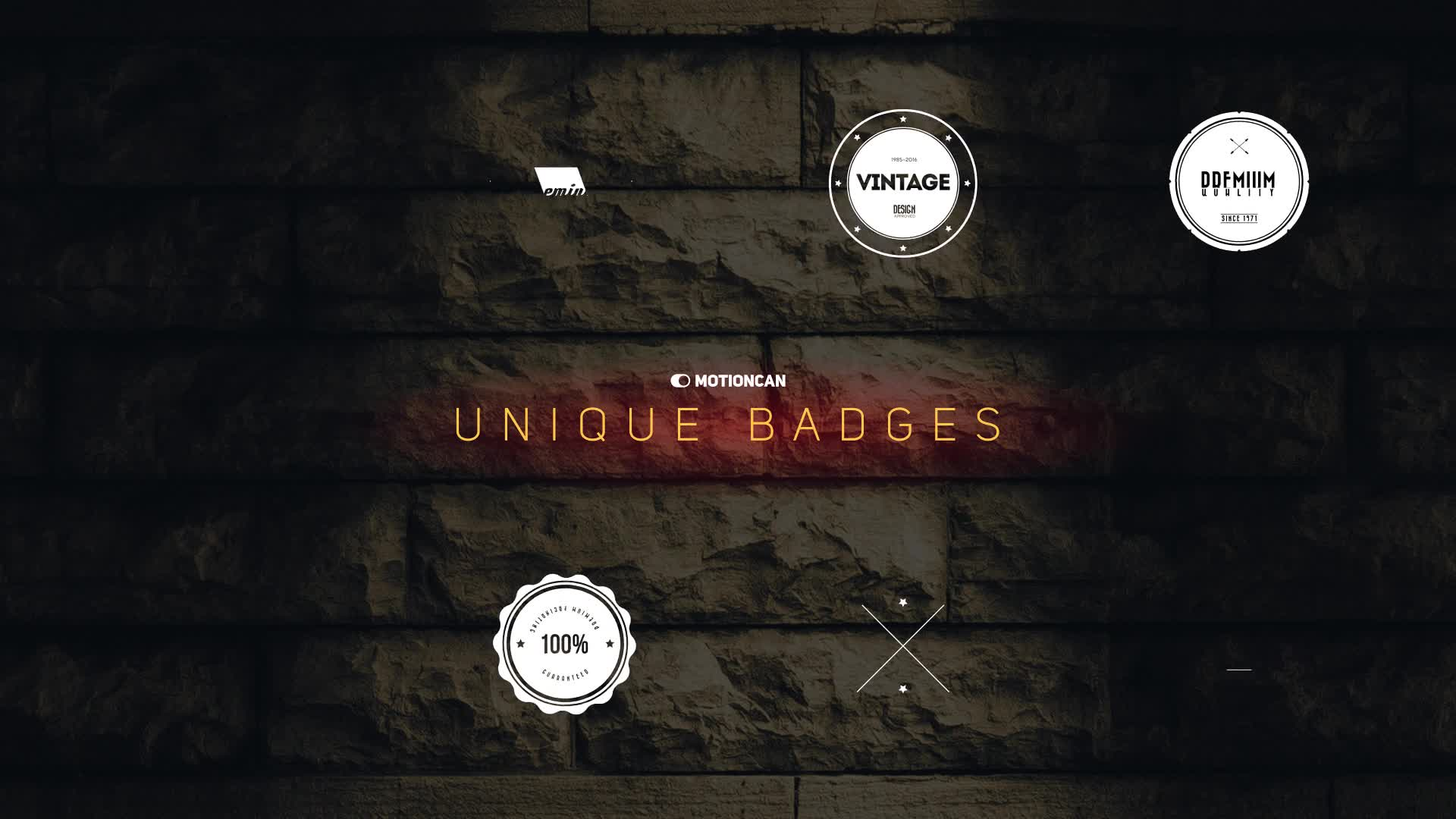 Unique Badges - Download Videohive 17142042