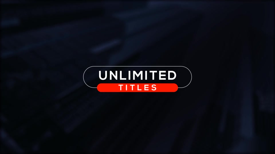 Unlimited Minimal Titles - Download Videohive 19074649