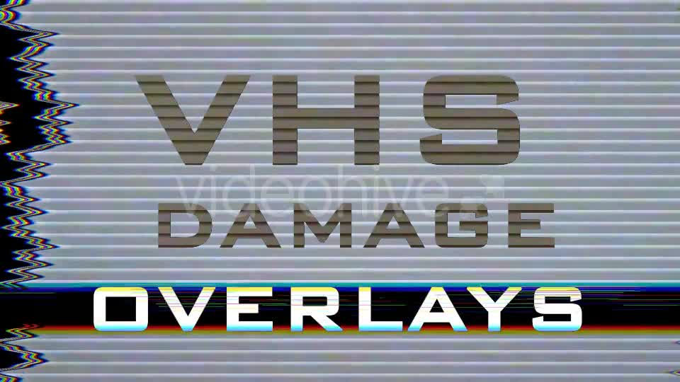 VHS Damage Overlays Pack - Download Videohive 15710909