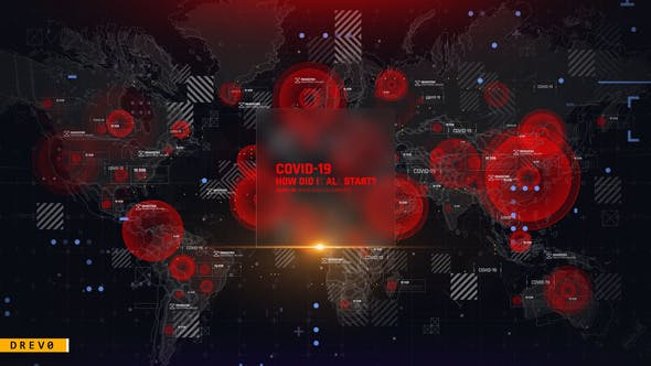 virus map intro   corona virus covid 19   dna   hud ui