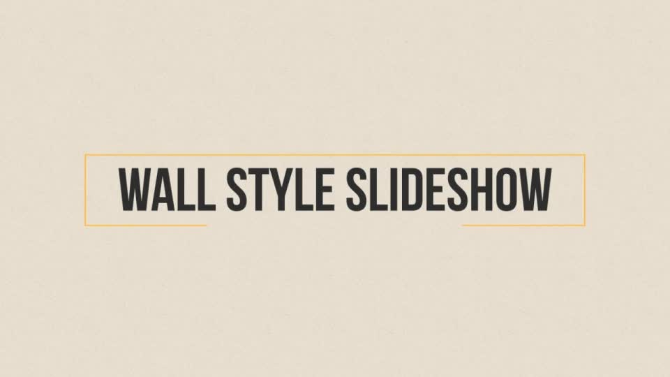 Wall Style Slideshow - Download Videohive 17570010