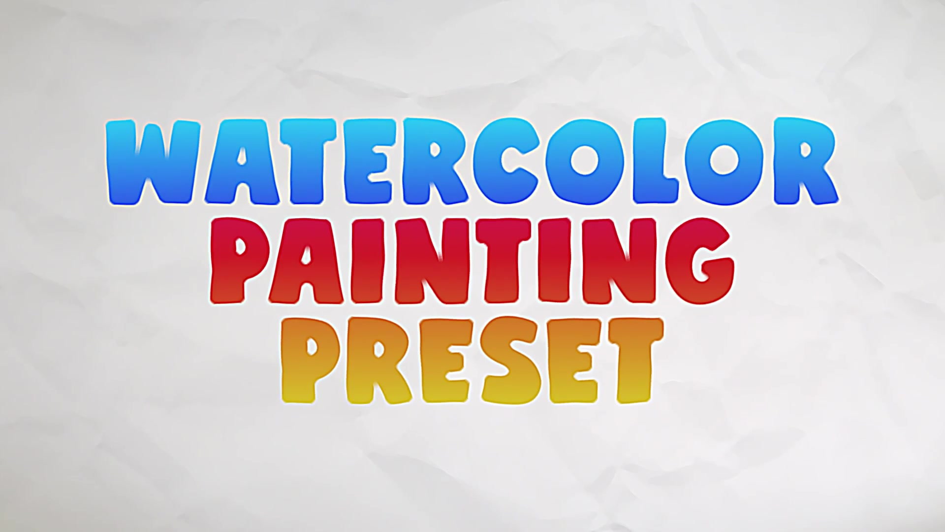 Watercolor Painting Preset Videohive 28737316 After Effects Image 9