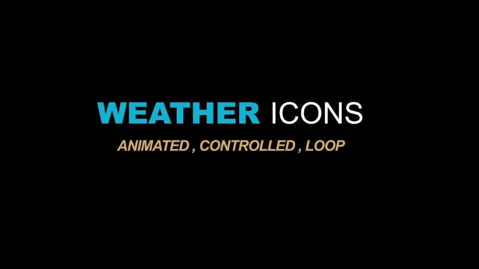 Weather Icons Videohive 21667835 After Effects Image 1