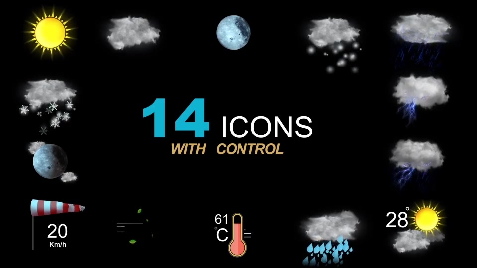Weather Icons Videohive 21667835 After Effects Image 10