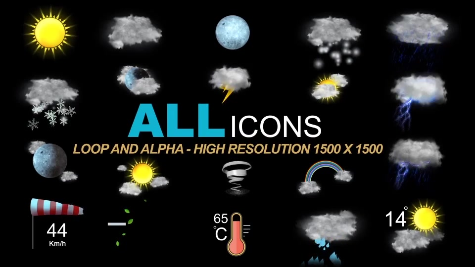 Weather Icons Videohive 21667835 After Effects Image 11