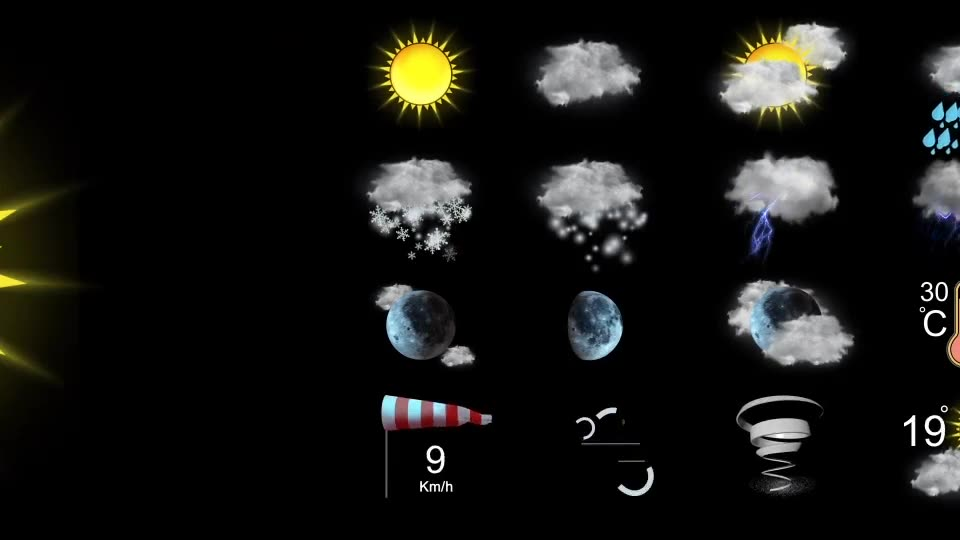 Weather Icons Videohive 21667835 After Effects Image 2