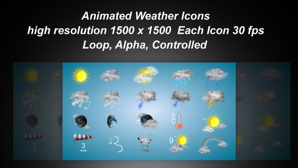 Weather Icons - Videohive 21667835 Download