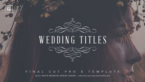 wedding titles fcpx