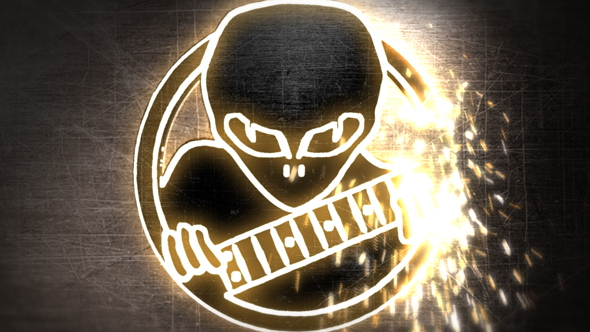 Welding Logo Reveal with Sparks - Download Videohive 19335899