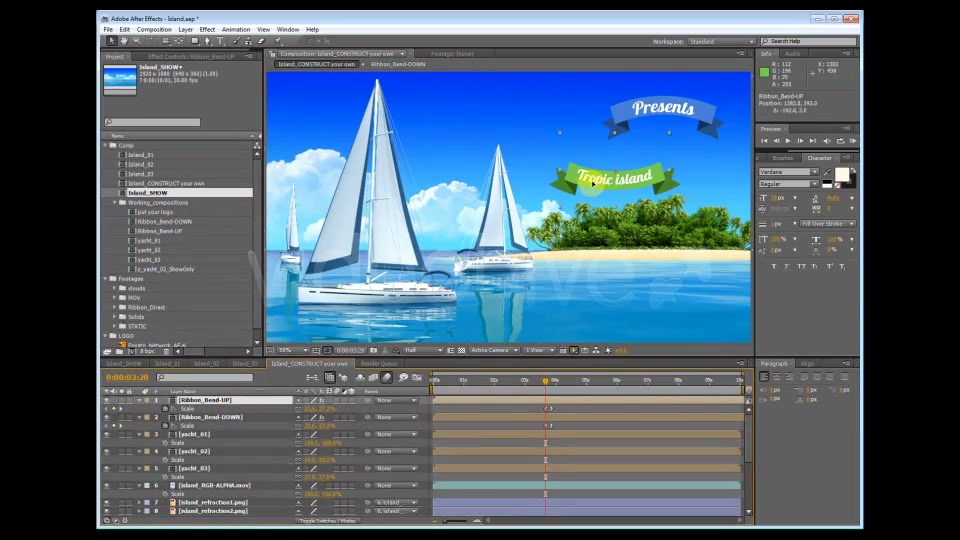 Yacht Sailing Island Travel Intro - Download Videohive 4832040