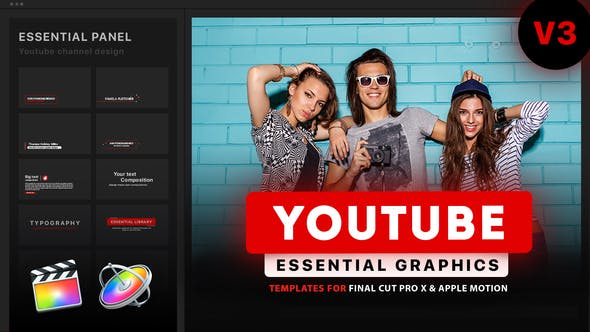 Youtube Essential Library | Final Cut Pro X - Download Videohive 23013848
