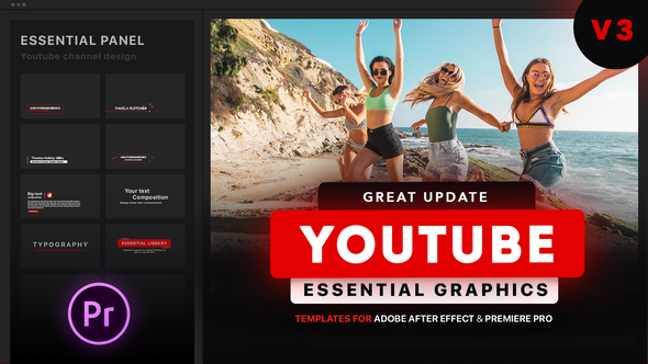 Youtube Essential Library | MOGRT for Premiere - Download Videohive 21655955