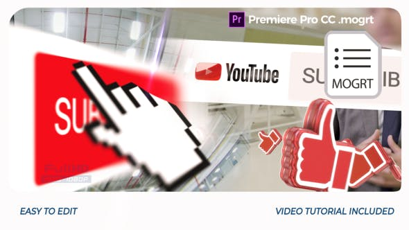 YouTube Opener // Premiere Pro | Mogrt - Videohive 25552335 Download