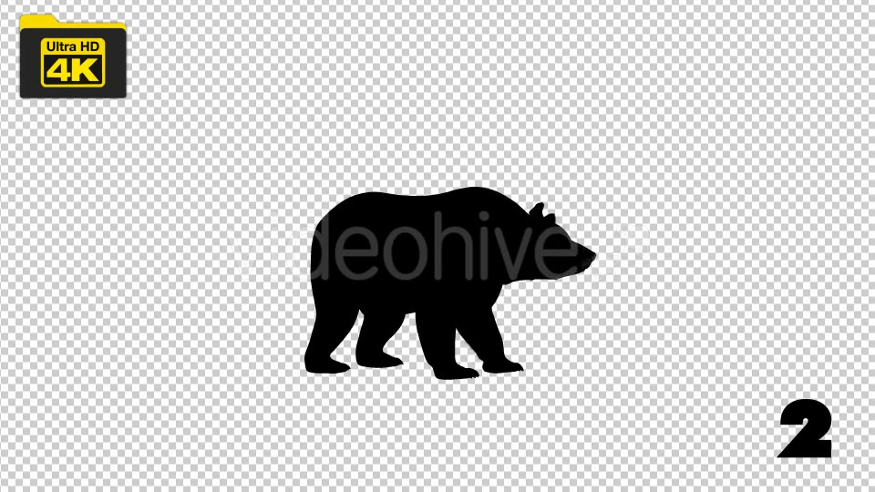 4K Bear Silhouettes 5 Pack Videohive 19722567 Motion Graphics Image 3