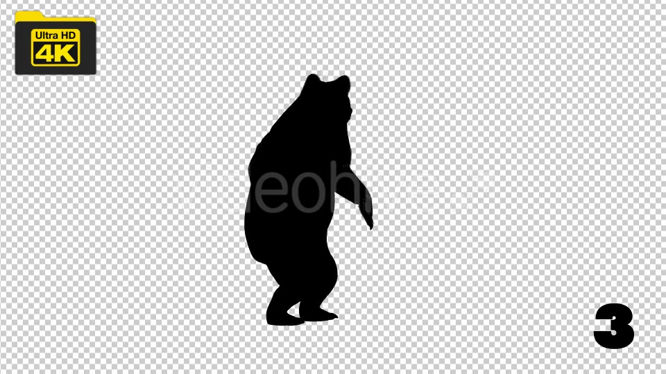 4K Bear Silhouettes 5 Pack Videohive 19722567 Motion Graphics Image 4