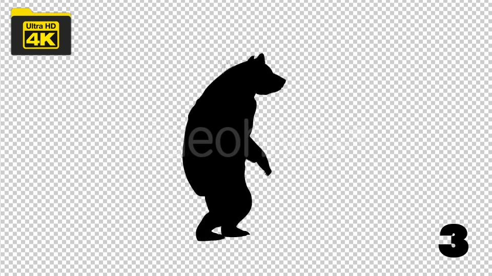 4K Bear Silhouettes 5 Pack Videohive 19722567 Motion Graphics Image 5