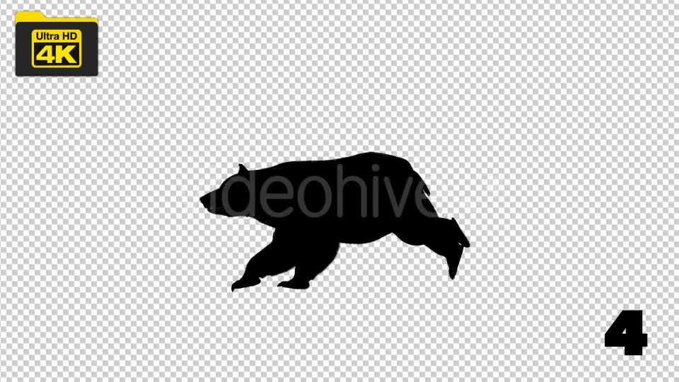 4K Bear Silhouettes 5 Pack Videohive 19722567 Motion Graphics Image 7