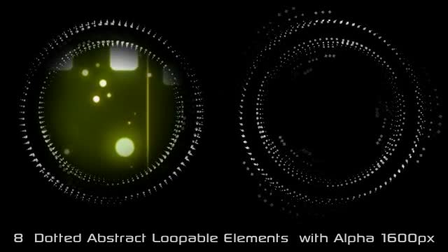 Abstract Dotted Elements 01 Videohive 6649736 Motion Graphics Image 1