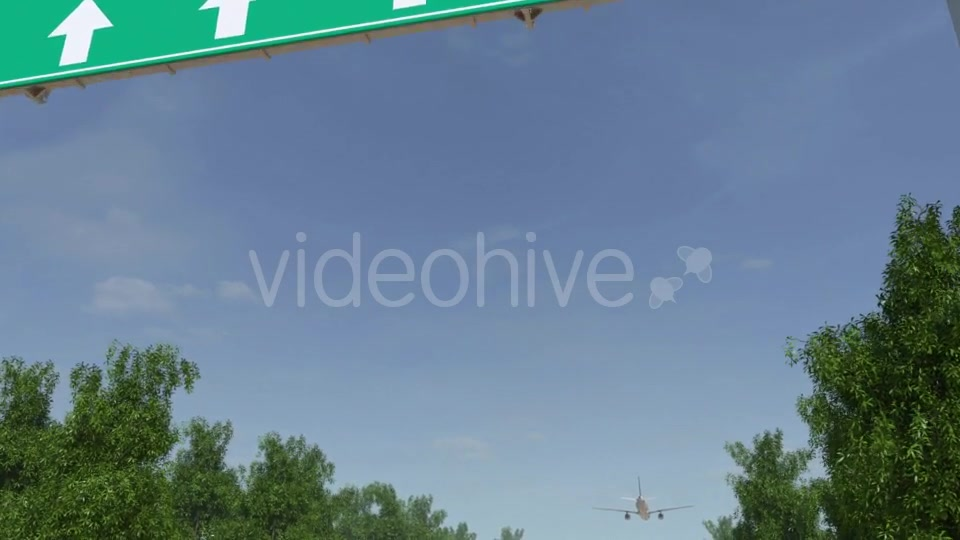 Airplane Arriving To Bangkok Airport Travelling To Thailand Videohive 19728676 Motion Graphics Image 6