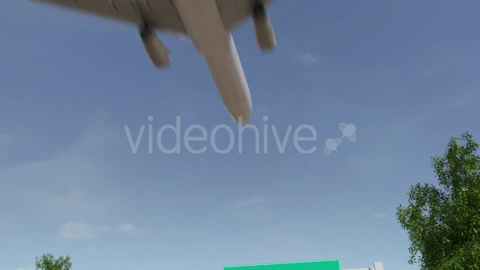 Airplane Arriving To Las Vegas Airport Travelling To United States Videohive 19730671 Motion Graphics Image 1