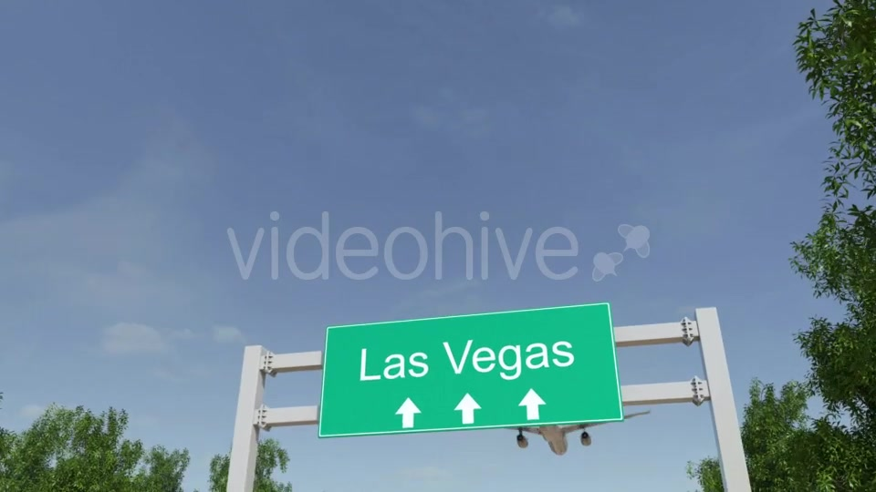 Airplane Arriving To Las Vegas Airport Travelling To United States Videohive 19730671 Motion Graphics Image 3