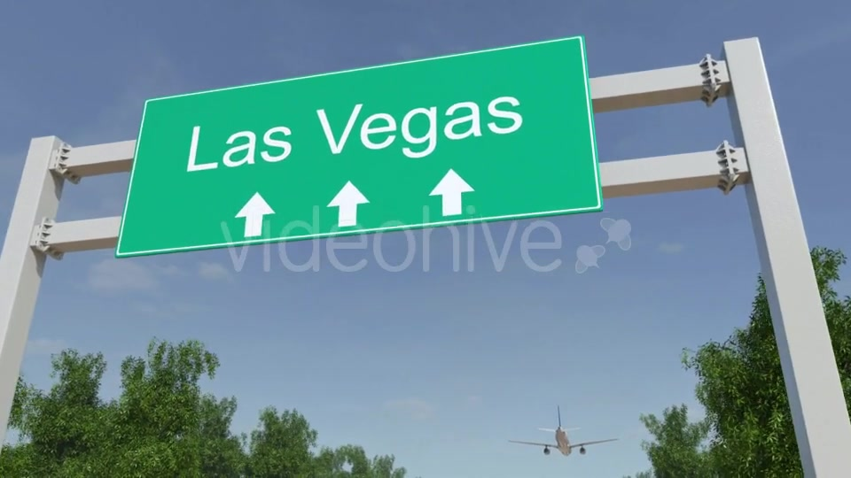 Airplane Arriving To Las Vegas Airport Travelling To United States Videohive 19730671 Motion Graphics Image 5