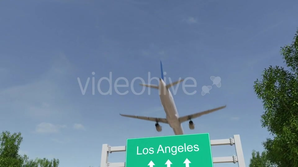 Airplane Arriving To Los Angeles Airport Travelling To United States Videohive 19730913 Motion Graphics Image 2