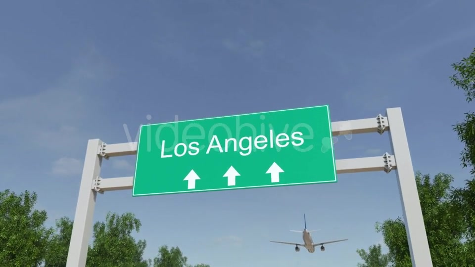 Airplane Arriving To Los Angeles Airport Travelling To United States Videohive 19730913 Motion Graphics Image 4