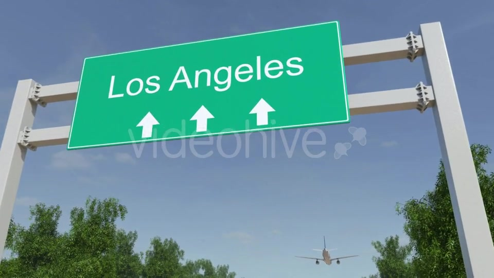 Airplane Arriving To Los Angeles Airport Travelling To United States Videohive 19730913 Motion Graphics Image 5