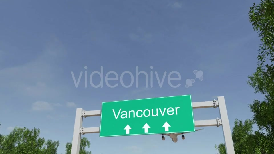 Airplane Arriving To Vancouver Airport Travelling To Canada Videohive 19733917 Motion Graphics Image 3