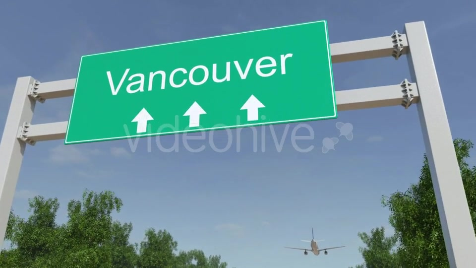 Airplane Arriving To Vancouver Airport Travelling To Canada Videohive 19733917 Motion Graphics Image 5