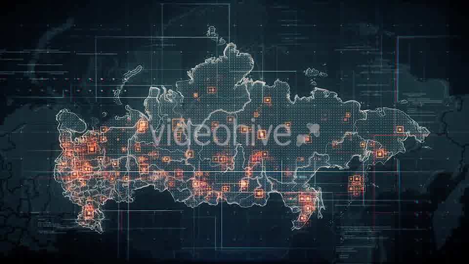 Black Russia Map with Lines Rollback Camera 4K Videohive 19713977 Motion Graphics Image 10