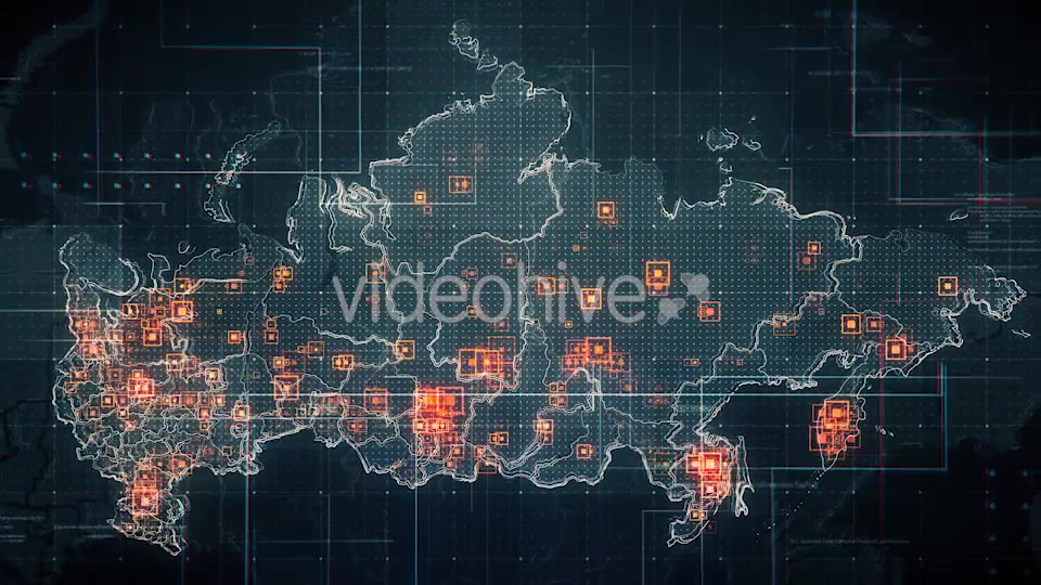 Black Russia Map with Lines Rollback Camera 4K Videohive 19713977 Motion Graphics Image 3