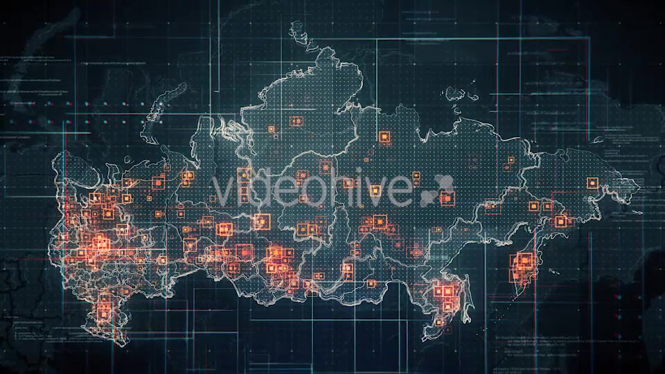 Black Russia Map with Lines Rollback Camera 4K Videohive 19713977 Motion Graphics Image 4