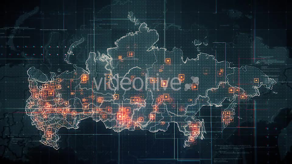 Black Russia Map with Lines Rollback Camera 4K Videohive 19713977 Motion Graphics Image 5