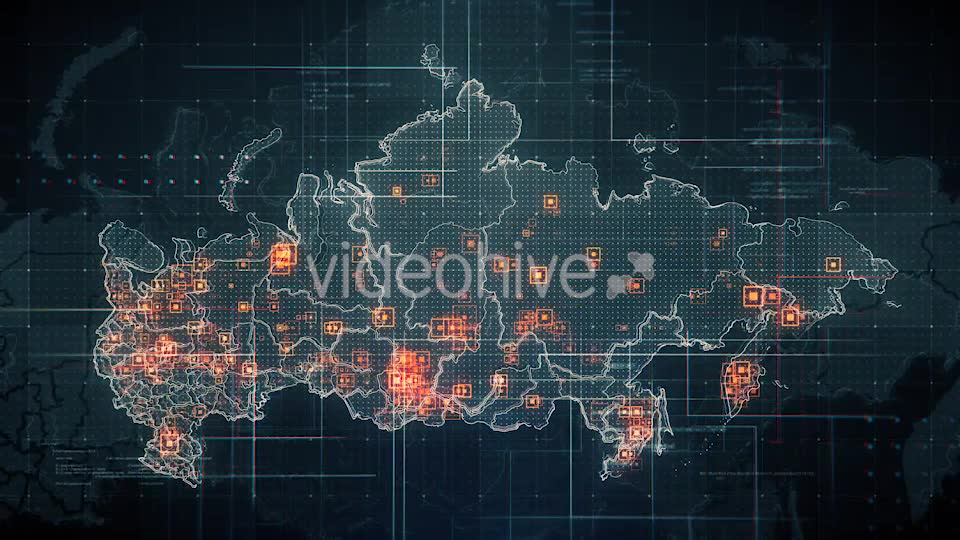 Black Russia Map with Lines Rollback Camera 4K Videohive 19713977 Motion Graphics Image 6
