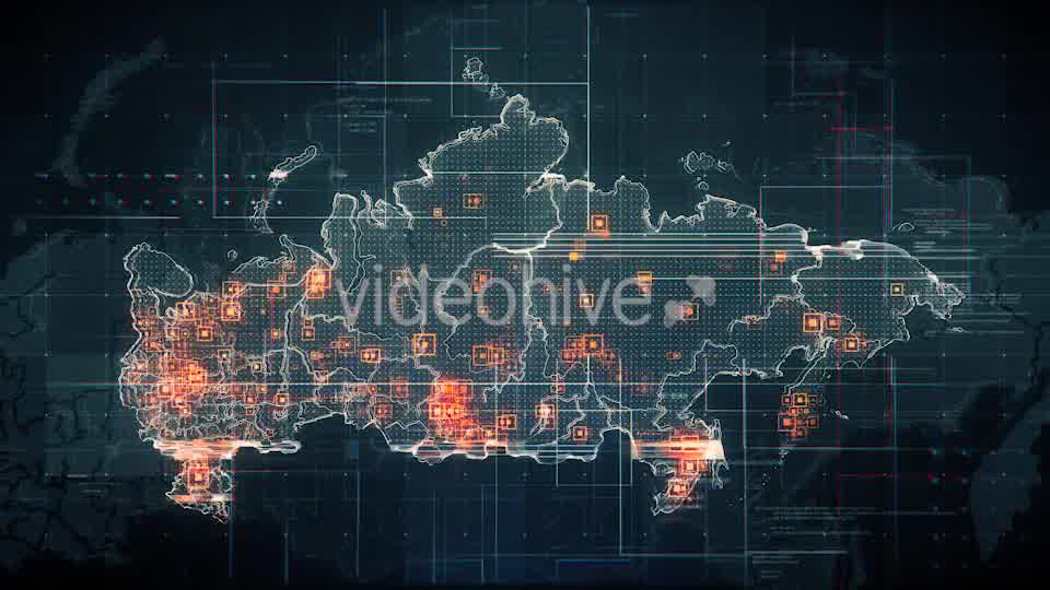 Black Russia Map with Lines Rollback Camera 4K Videohive 19713977 Motion Graphics Image 9